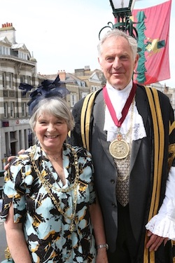 The Mayor Councillor Nick Cope and Mayoress Mrs Elizabeth Cope